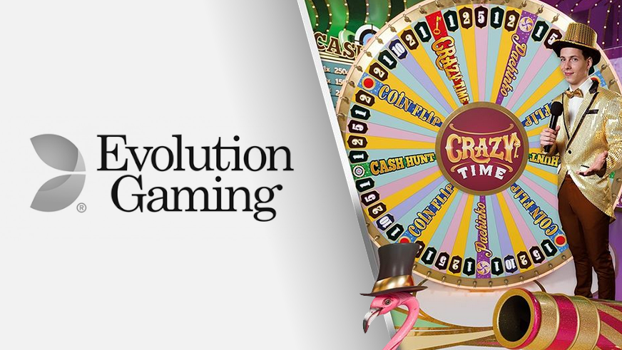 Evolution gaming lanserar nya game showen Crazy time