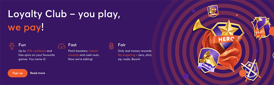 Bitcasino.io lojalitetsprogram och upp till 10% Cashback