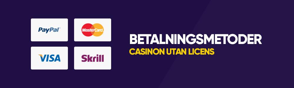 Betalningsmetoder hos utländska casinon