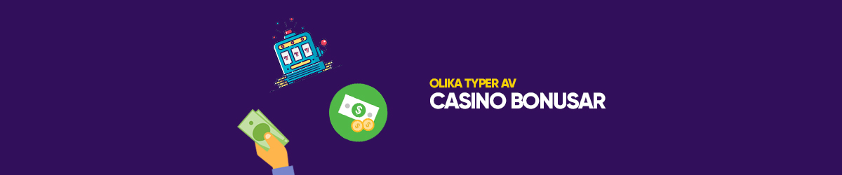 Det finns olika typer av bonusar att välja mellan hos ett casino utan licens