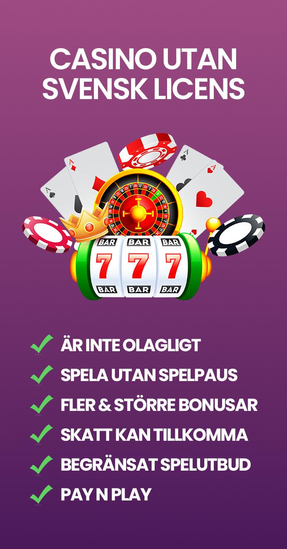 Vad innebär casino utan svensk licens?